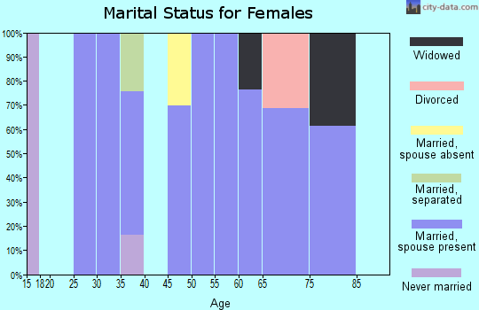 Zip code 14037 marital status for females