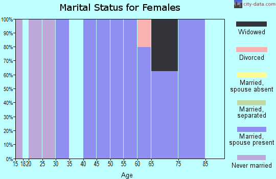 Zip code 14069 marital status for females