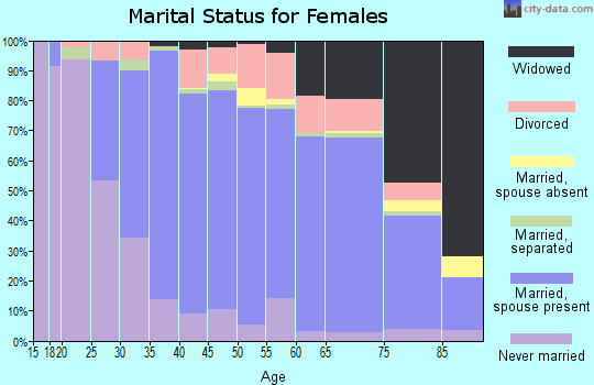 Zip code 14127 marital status for females