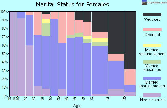 Zip code 14141 marital status for females