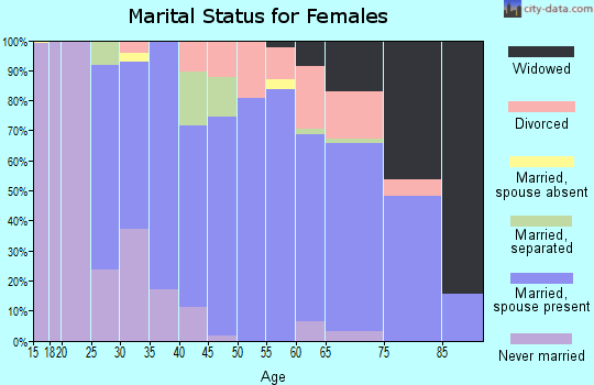 Zip code 14174 marital status for females