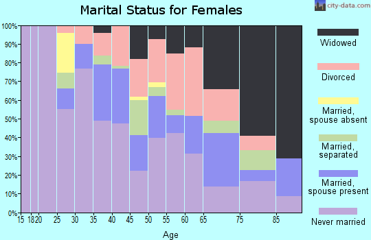 Zip code 14204 marital status for females