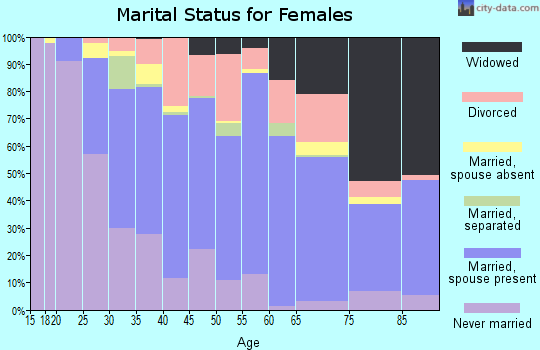 Zip code 14437 marital status for females