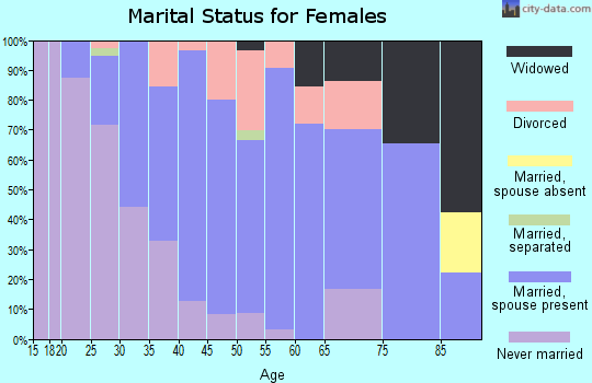 Zip code 14546 marital status for females