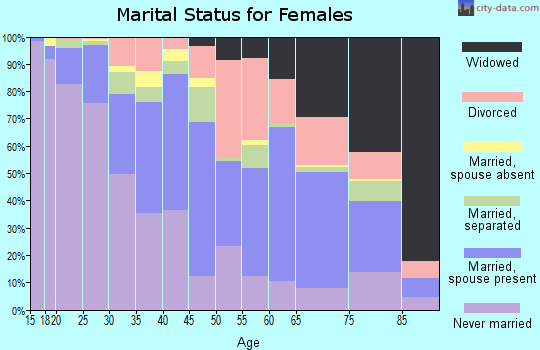 Zip code 14606 marital status for females