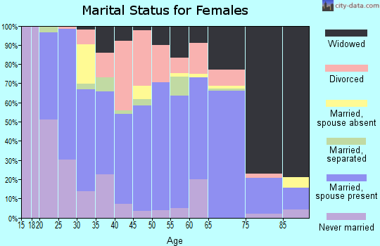 Zip code 14737 marital status for females