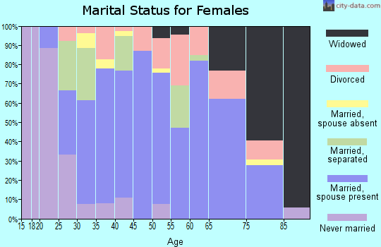 Zip code 14739 marital status for females