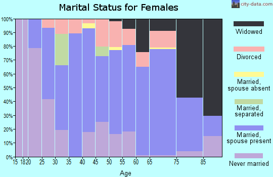 Zip code 14813 marital status for females