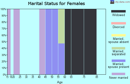 Zip code 15078 marital status for females