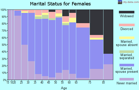 Zip code 15101 marital status for females