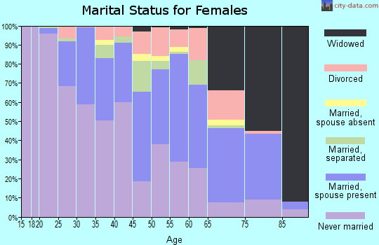 Zip code 15201 marital status for females