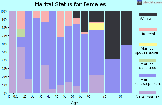 Zip code 15333 marital status for females