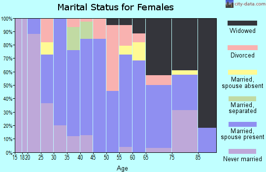 Zip code 15338 marital status for females