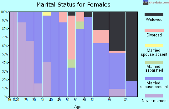 Zip code 15479 marital status for females