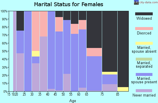 Zip code 15480 marital status for females