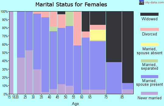 Zip code 15486 marital status for females