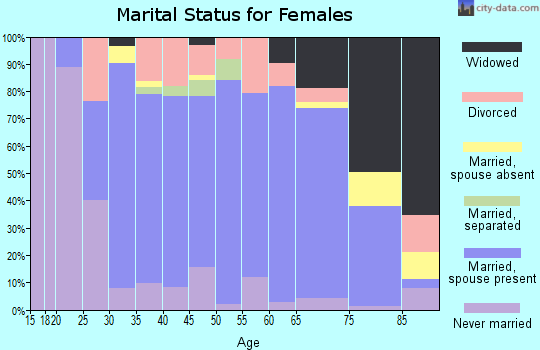 Zip code 15530 marital status for females