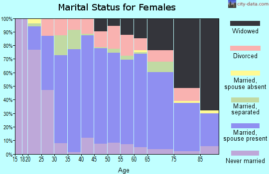 Zip code 15613 marital status for females