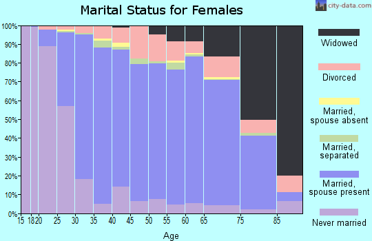 Zip code 15642 marital status for females
