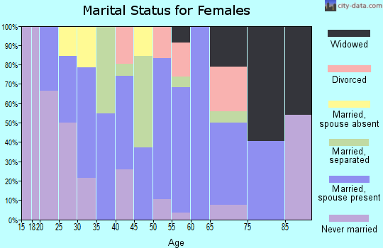 Zip code 15673 marital status for females