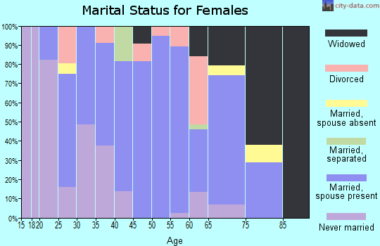 Zip code 15724 marital status for females