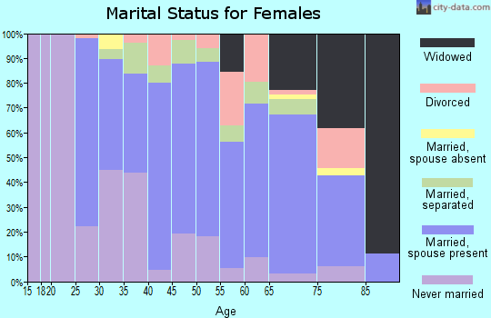Zip code 15728 marital status for females