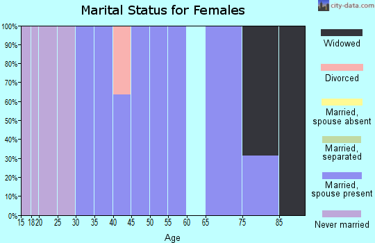Zip code 15957 marital status for females