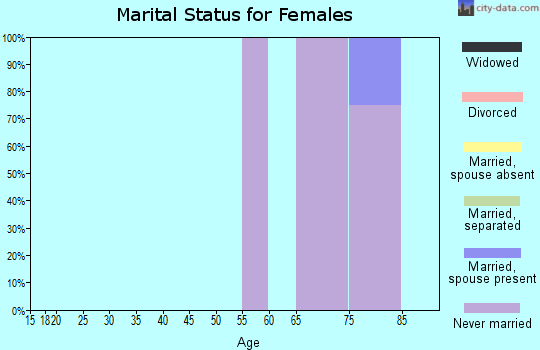 Zip code 16155 marital status for females