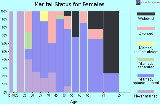 Zip code 16640 marital status for females