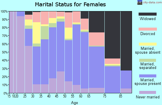 Zip code 17033 marital status for females