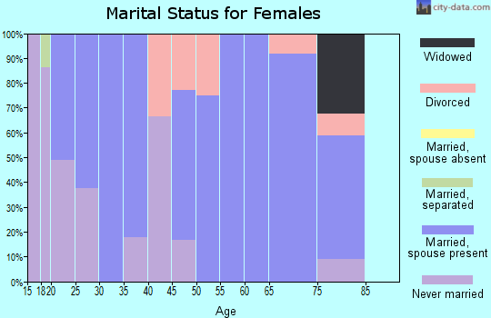 Zip code 17037 marital status for females