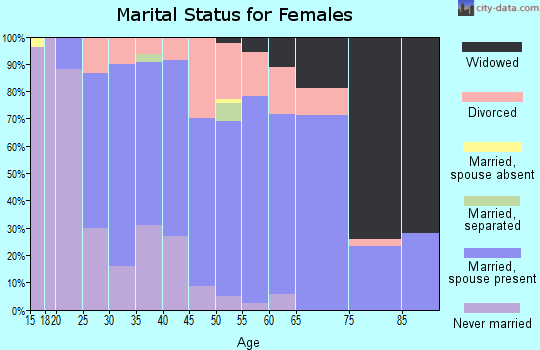Zip code 17053 marital status for females