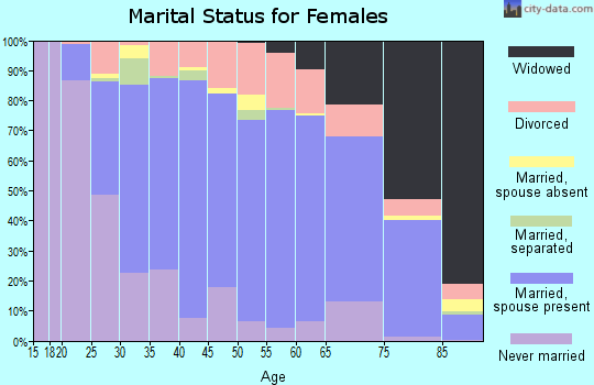 Zip code 17055 marital status for females