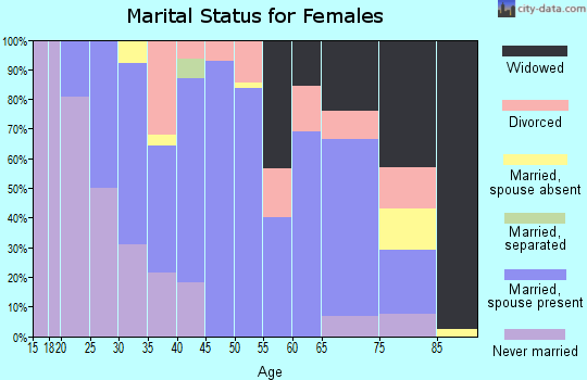 Zip code 17058 marital status for females