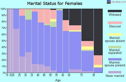 Zip code 17061 marital status for females