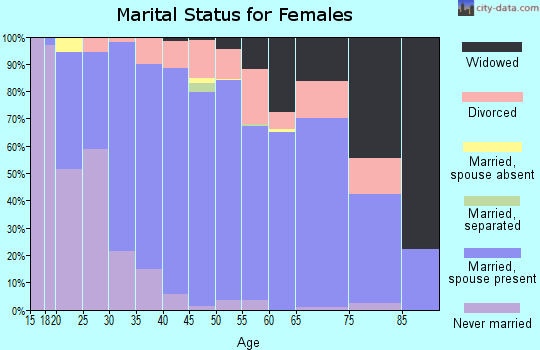 Zip code 17062 marital status for females