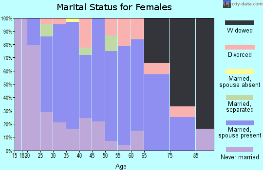 Zip code 17065 marital status for females