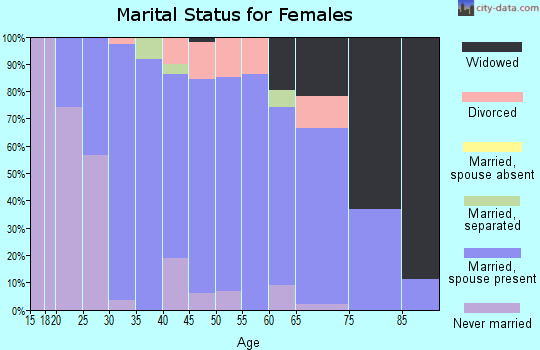 Zip code 17094 marital status for females
