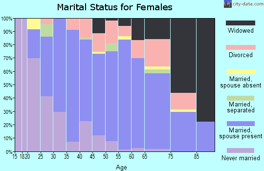Zip code 17233 marital status for females