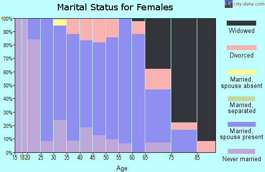 Zip code 17244 marital status for females