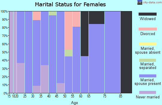 Zip code 17252 marital status for females