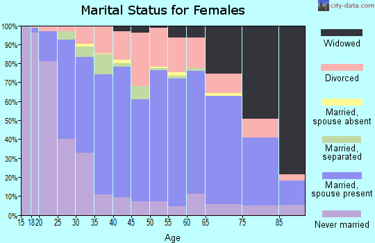 Zip code 17268 marital status for females