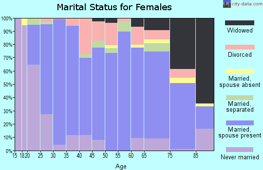 Zip code 17517 marital status for females