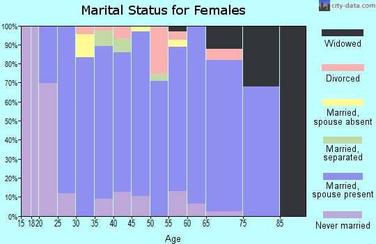 Zip code 17527 marital status for females