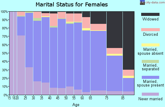 Zip code 17543 marital status for females