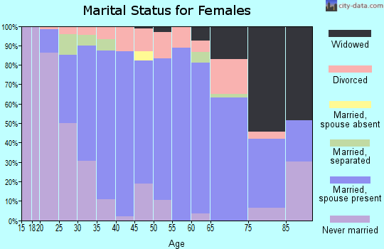 Zip code 17552 marital status for females