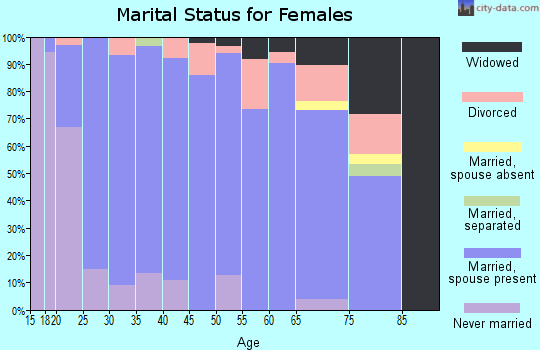 Zip code 17579 marital status for females