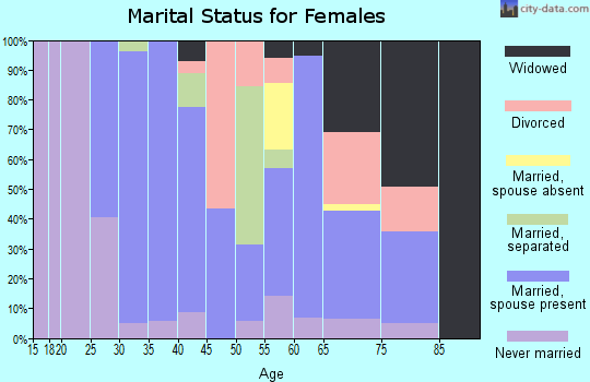 Zip code 17721 marital status for females