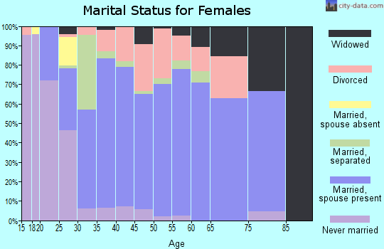 Zip code 17771 marital status for females