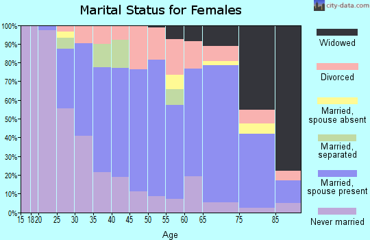 Zip code 17837 marital status for females